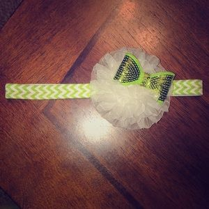Other - Green and white headband